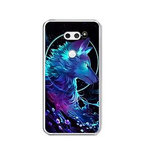 Ốp lưng dẻo cho điện thoại LG V30 - 0485 Wolf - Hàng Chính Hãng