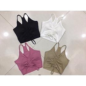 Áo bra tập gym, yoga nữ rút dây trước ngực MS16