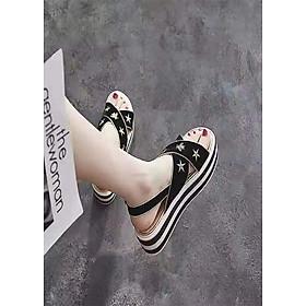 Giày sandal nữ đế bánh mì họa tiết sao ong Windy