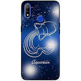 Ốp lưng dành cho Realme 3 Pro mẫu Cung hoàng đạo Aquarius (xanh)