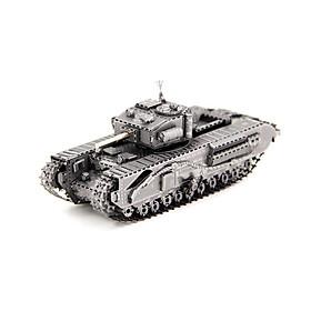 Mô hình thép 3D tự ráp mẫu xe tank Churchill