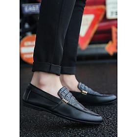 Hình đại diện sản phẩm Giày da Nam cao cấp Phong cách Trẻ Trung Năng Động TN24 - Đen