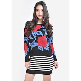 Áo Len Nữ Hoa Hồng H546 - (Free Size)