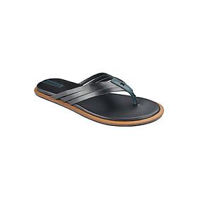 Dép Nam Đế Bằng Da Thật Gosto Press Sandal Men 1 New GDM003000BLK (Đen)