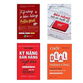 Combo 4 cuốn :  Chốt DEAL Thành Công + Kỹ Năng Bán Hàng Tuyệt Đỉnh + Bán Hàng Thời Kỹ Thuật Số  + Kỹ Năng Bán Hàng Hiệu Quả