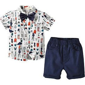 Baby Boys Suits Summer Single Breasted Shirts Vest Pants 2Pcs Set Boys Formal Wedding Wear Children Clothing