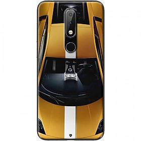 Ốp lưng dành cho Nokia 5.1 Plus mẫu Xe hơi vàng