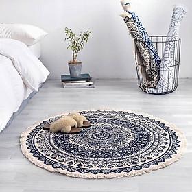 Round Carpet Mandala Home Decorative Living Room Bedroom Rugs Anti-slip Floor Mats
