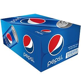 Thùng 24 Lon Nước Ngọt Có Gas Pepsi (330ml / Lon)