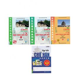 Combo Giáo Trình Ngữ 1,2,3 và Tập Viết Chữ Hán Theo Giáo Trình Hán Ngữ Phiên Bản Mới