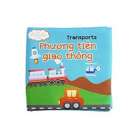Sách vải song ngữ Lalala baby chủ đề phương tiện giao thông