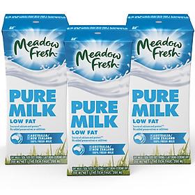 Lốc 3 hộp Sữa tươi ít béo Meadow Fresh 200ml
