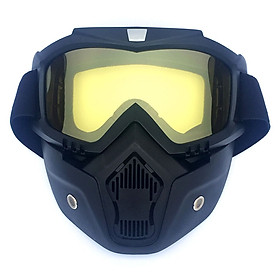 Men/Women Retro Outdoor Cycling Mask Goggles Snow Sports Skiing Full Face Mask Glasses Frame