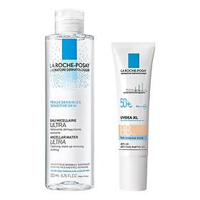 Bộ chăm sóc da Kem Chống Nắng La Roche Posay BB 03 Giúp Bảo Vệ Da SPF 50 + PA + + + + (30ml) + Nước Tẩy Trang Làm Sạch Sâu Cho Da Nhạy Cảm La Roche-Posay Micellar Water Ultra Sensitive Skin (200ml)