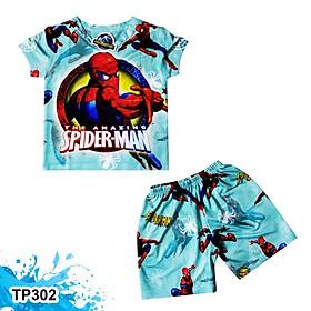 Đồ Bộ Thun Có Tay In 3D cho bé trai hình The Amazing Spiderman