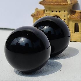 Cặp Bi Lăn Tay Đá Obsidian