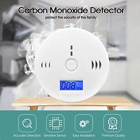 Máy Dò Báo Động Khí Carbon Monoxide 85Db Co Độ Nhạy Cao Có Màn Hình Lcd