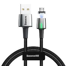 Dây cáp sạc nhanh 3A từ tính cổng Micro USB dài 200CM hiệu Baseus Zinc Magnetic Cable Series 2 cho Huawei, Samsung, Xiaomi, Oppo, Nokia (Sạc nhanh 3A, tốc độ truyền dữ liệu cao) - Hàng nhập khẩu