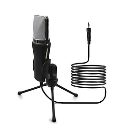Microphone with Stand 3.5mm Jack Desk Microphone for Computer Gaming Recording Chatting Meetings