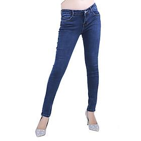 Quần Jeans Nữ Lưng Thấp M01 - Xanh Vi Sinh