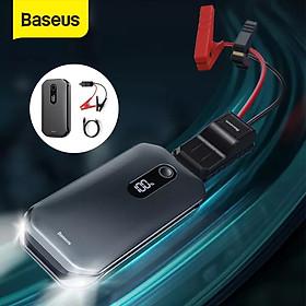 (Hàng chính hãng) Bộ kích oto-Cứu hộ xe hơi Baseus Car Jump Starter dung lượng pin 12000mAh sạc đầy được 50 lần kích công suất 1000A kiêm pin dự phòng tích hợp màn hình kỹ thuật số, được kiểm tra chất lượng nghiêm ngặt.