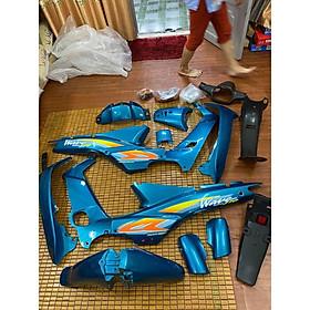 Dàn áo dành cho Honda Wave nhỏ (Alpha/110/Zx/Trung Quốc...) loại 1 màu Xanh Ngọc