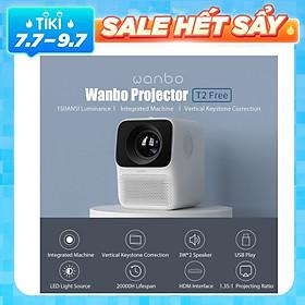 Máy Chiếu Mini Xiaomi Youpin Wanbo T2 Free 1080P 150Ansi Lcd 40-120Inch