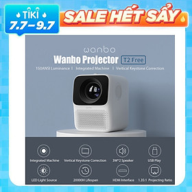 Máy chiếu Xiaomi Youpin Wanbo T2 1080P 150ANSI LCD 40-120 inch