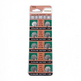 Vỉ 10 Pin Alkaline 1.55V AG10 - LR1130