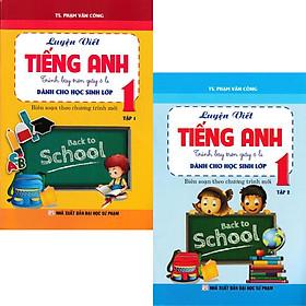 Combo Luyện Viết Tiếng Anh - Trình Bày Trên Giấy Ô Li - Dành Cho Học Sinh Lớp 1 (Bộ 2 quyển)