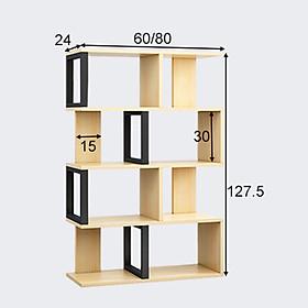 Kệ sách zíc zắc 4 tầng tiện ích cao cấp MGK028
