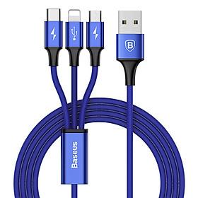 Dây Cáp 3 Cổng Micro USB - Lightning - Type C Baseus - Hàng Nhập Khẩu