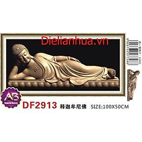 Tranh đính đá Phật Nằm DF2913 chưa đính