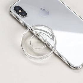Miếng dán Nano giữ điện thoại Gel Pad Silicon đa năng thần kì dùng để giữ điện thoại ở bất kì nơi nào bạn muốn màu sắc trong suốt hình vuông và tròn