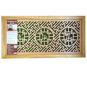Tấm chống ám khói Mộc Linh 41x81 chữ Phúc Lộc Thọ tiếng Việt màu Vàng