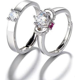 Nhẫn đôi nhẫn cặp mặt đá sang trọng