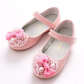 Giày búp bê da mềm chống trơn trượt cho bé gái