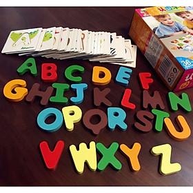 Đồ chơi trí tuệ - Combo bộ Ghép chữ cái và Ghép Số giúp bé nhận biết Chữ cái và con số