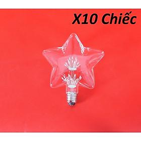 Bộ 10 bóng đèn led trang trí hình ngôi sao, đèn trang trí độc đáo hàng chính hãng