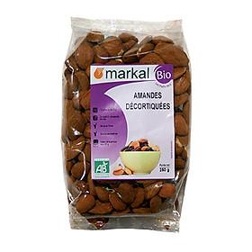 Hạt hạnh nhân hữu cơ đã tách vỏ cứng Markal 250g