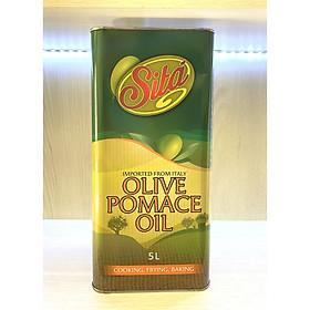 Dầu Oliu Pomace Cao Cấp Nhãn Hiệu Sita' 5 Lít Nhập Khẩu Ý Dùng trong Nấu Ăn, Trộn Salat, Làm Đẹp - Olive Pomace Oil 5000Ml Sita Italia - (Dầu ăn), (Dầu Dưỡng Da)