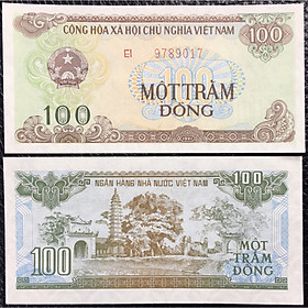 Việt Nam 100 Đồng 1991 Bót Cai Lậy, Seri Số Lớn Hiếm Hơn Seri Số Nhỏ [Tiền Thật 100% Tiền Cổ, Tiền Xưa]