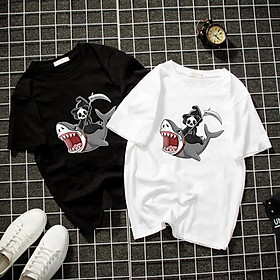 Áo thun Nam Nữ Không cổ THẦN CHẾT CÁ MẬP CIMT-0029 mẫu mới cực đẹp, có size bé cho trẻ em / áo thun Anime Manga Unisex Nam Nữ, áo phông thiết kế cổ tròn basic cộc tay thoáng mát