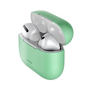 Bao case chống sốcsilicon siêu mỏng cho tai nghe Apple Airpods Pro hiệu Baseus Super Thin (Mỏng 0.8mm, bảo vệ toàn diện, vật liệu cao cấp) - Hàng nhập khẩu