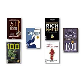 Combo 6 cuốn sách + 100 phương pháp truyền động lực cho đội nhóm chiến thắng + Rich Habits thói quen thành công của những triệu phú tự thân + Tư duy doanh nhân hành động lãnh đạo + 51 chìa khóa vàng để trở thành nhà lãnh đạo truyền cảm hứng + LEADERSHIP Dẫn dắt bản thân, đội nhóm và tổ chức vươn xa + 101 lãnh đạo QP