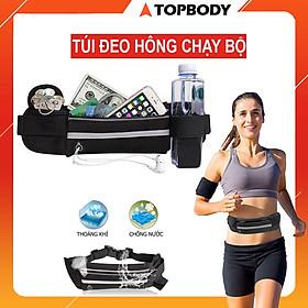 Túi chạy bộ đeo hông nhỏ gọn, chống nước chính hãng TopBody, đựng ví tiền, điện thoại, chìa khóa
