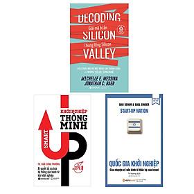 Combo Sách Khởi Nghiệp Hay: Khởi Nghiệp Công Nghệ - Giải Mã Bí Ẩn Thung Lũng Silicon + Quốc Gia Khởi Nghiệp + Khởi Nghiệp Thông Minh