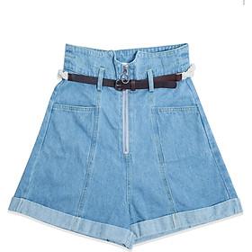 Quần Short Jeans dây kéo