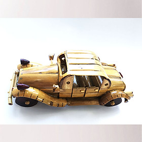Mô Hình Xe Hơi DUESENBERG Tre Vàng Handmade