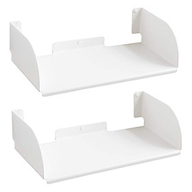 Combo 2 Kệ Sách Treo Tường Smlife Chữ D 45 (45 x 25 x 15 cm) - Đen
